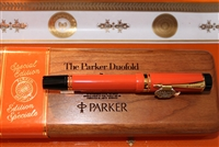Parker Orange Duofold Centennial Fountain Pen